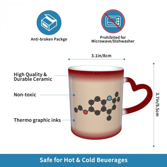 Ethoxyquin Antioxidant Food Preservative Molecule Heat Sensitive Color Changing Mug In The Sky Funny Art Coffee Mugs Personalized Gifts For Family Lovers Friends One Size (pp20210423) 3.1*3.7 in