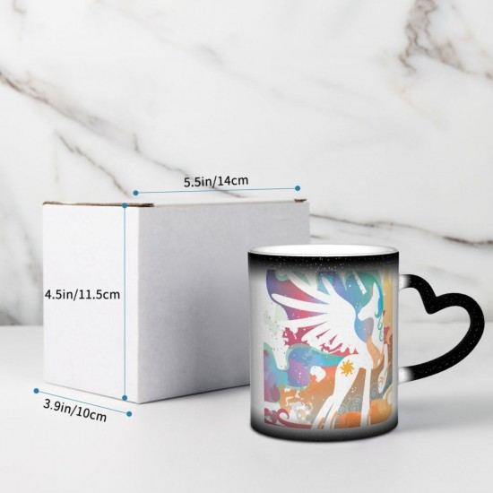 Blanc Magique My Little Pony Princess Celestia Vecteur Heat Sensitive Color Changing Mug In The Sky Funny Art Coffee Mugs Personalized Gifts For Family Lovers Friends One Size (pp20210423) 3.1*3.7 in