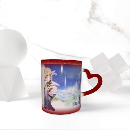 Alisha Diphda Heat Sensitive Color Changing Mug In The Sky Funny Art Coffee Mugs Personalized Gifts For Family Lovers Friends One Size (pp20210423) 3.1*3.7 in